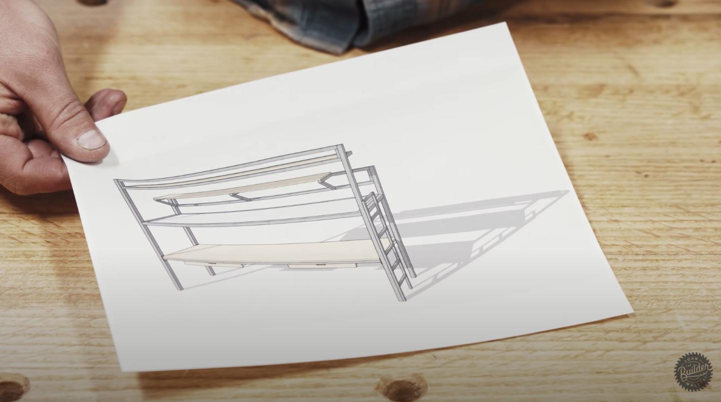 double decker desk outline