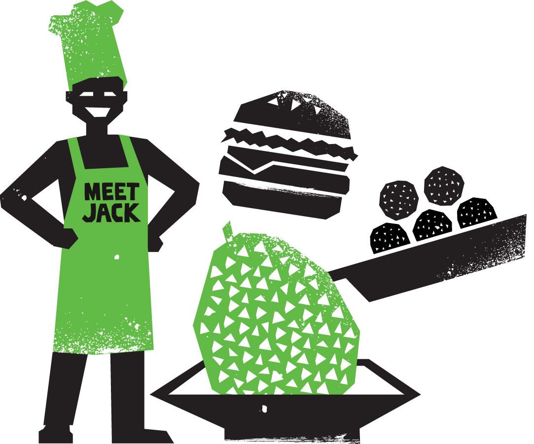 Chef making jackfruit dishes