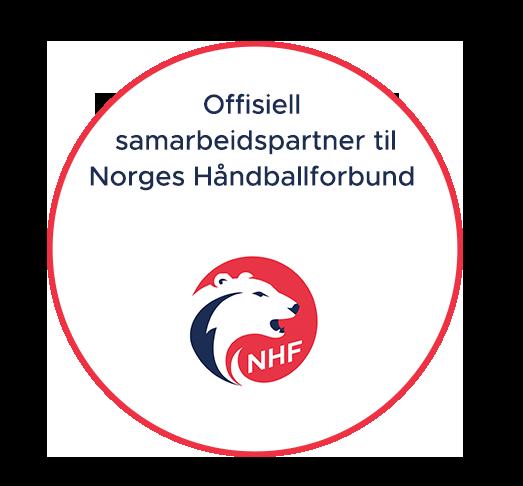 Offisiell samarbeidspartner til Norges Håndballforbund logo