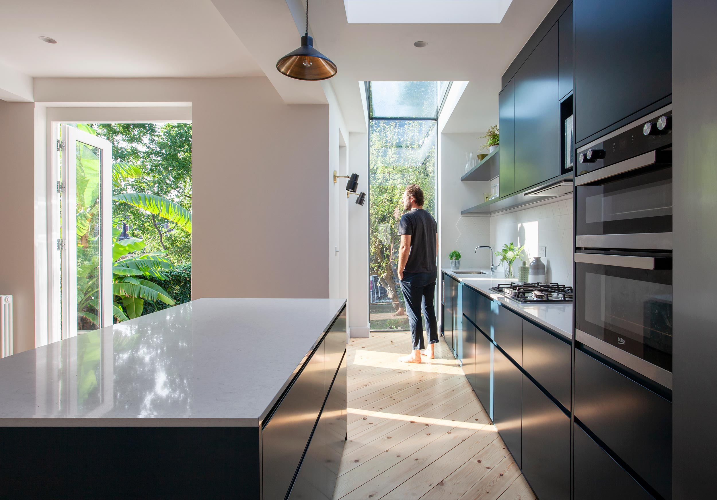 Grade II listed refurbishment and extension of a private house in South Kensington