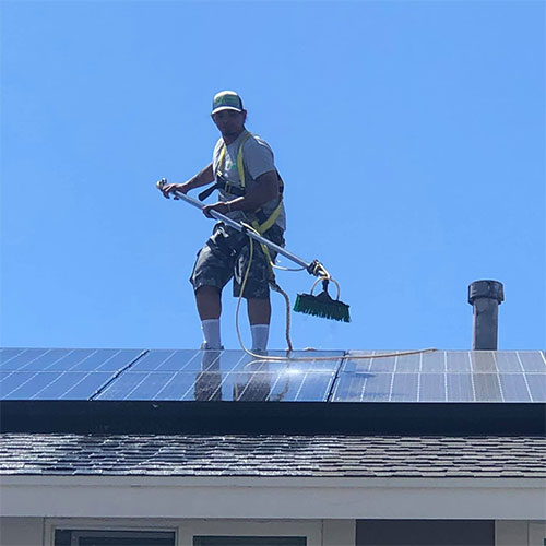 solar panel cleaning project corona