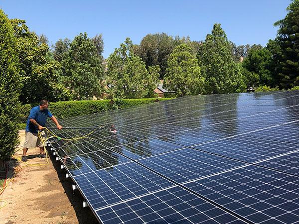 corona solar panel cleaning