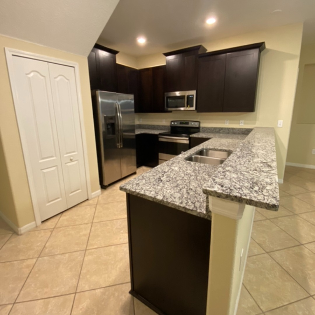 Kitchen Remodel with Dark Cabinets and Countertops