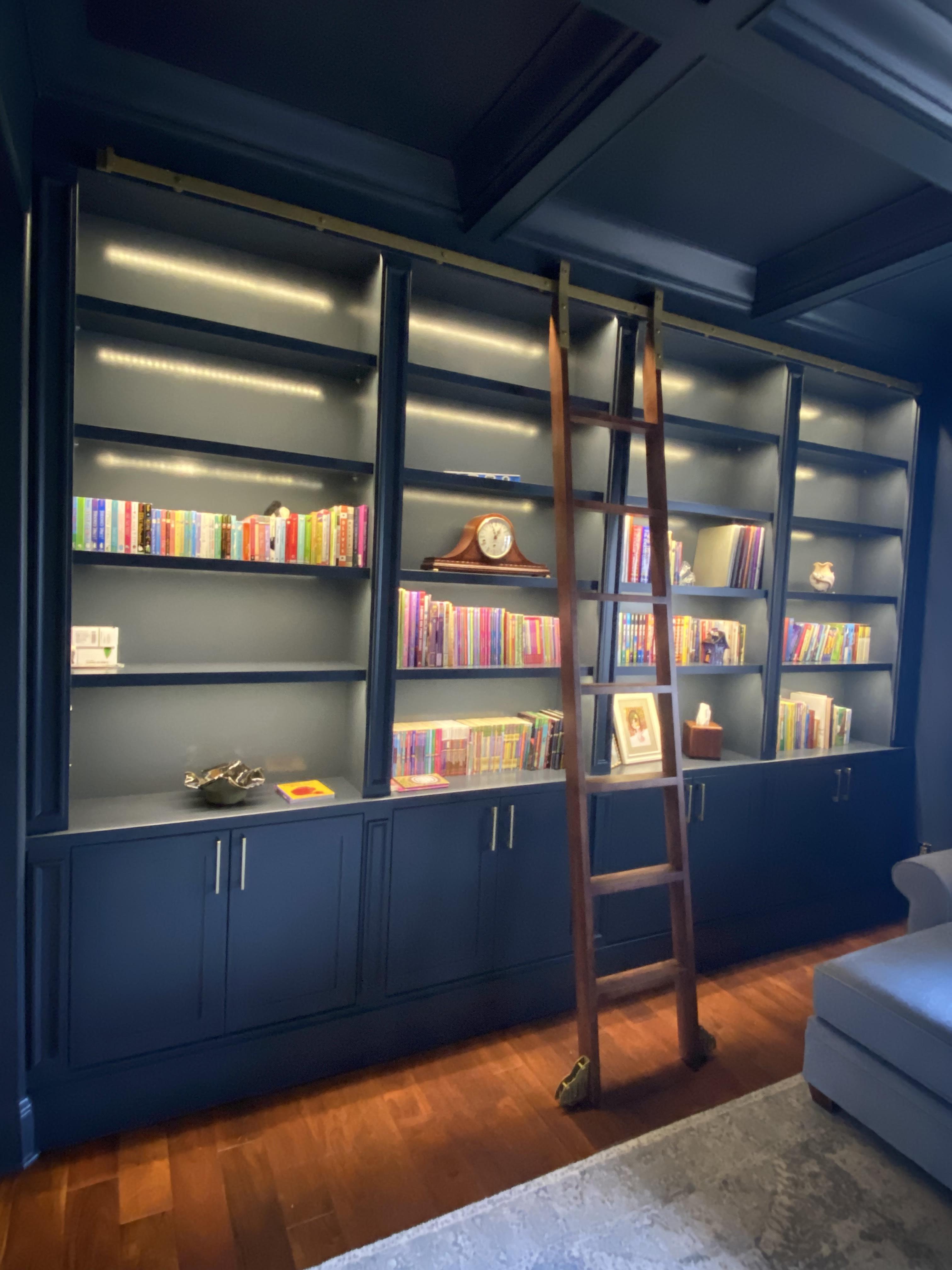 Custom Built In Bookshelves
