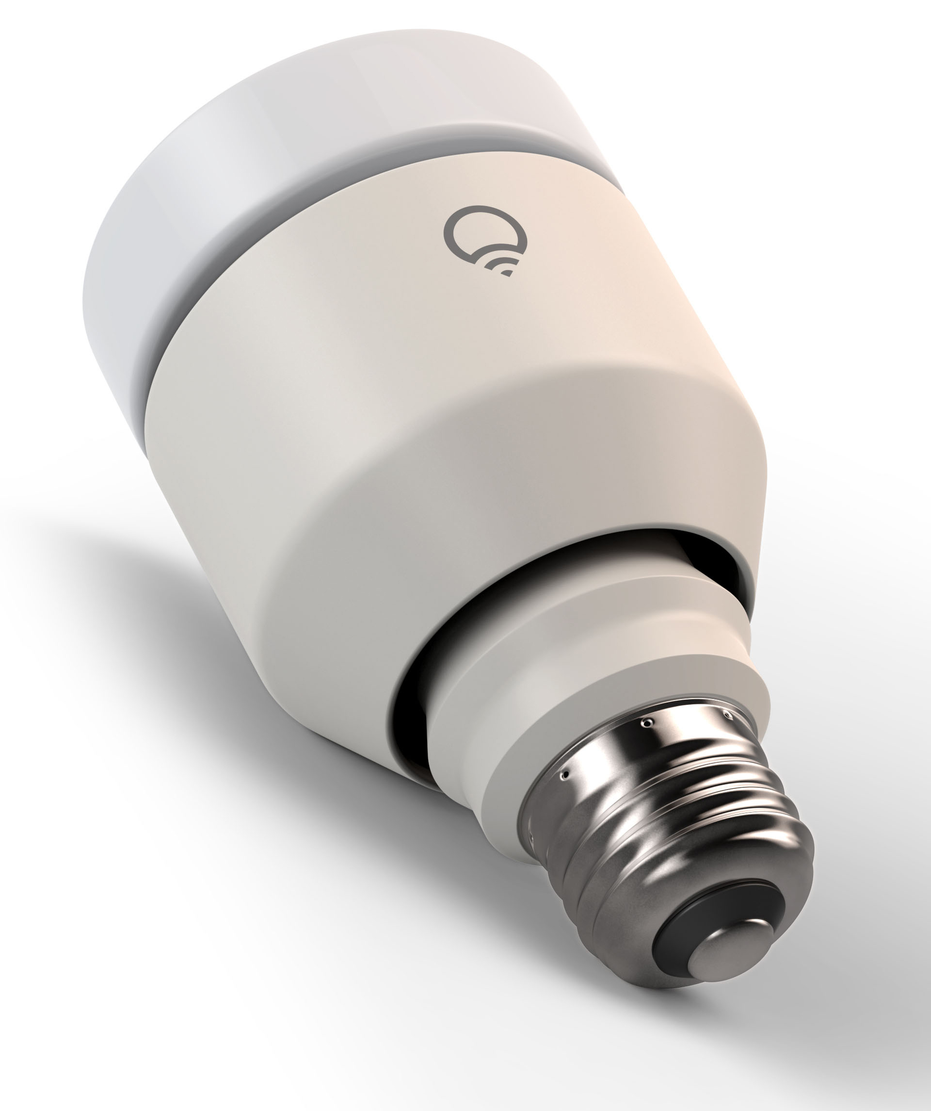 LIFX A19 smart bulb product package rendering on white background