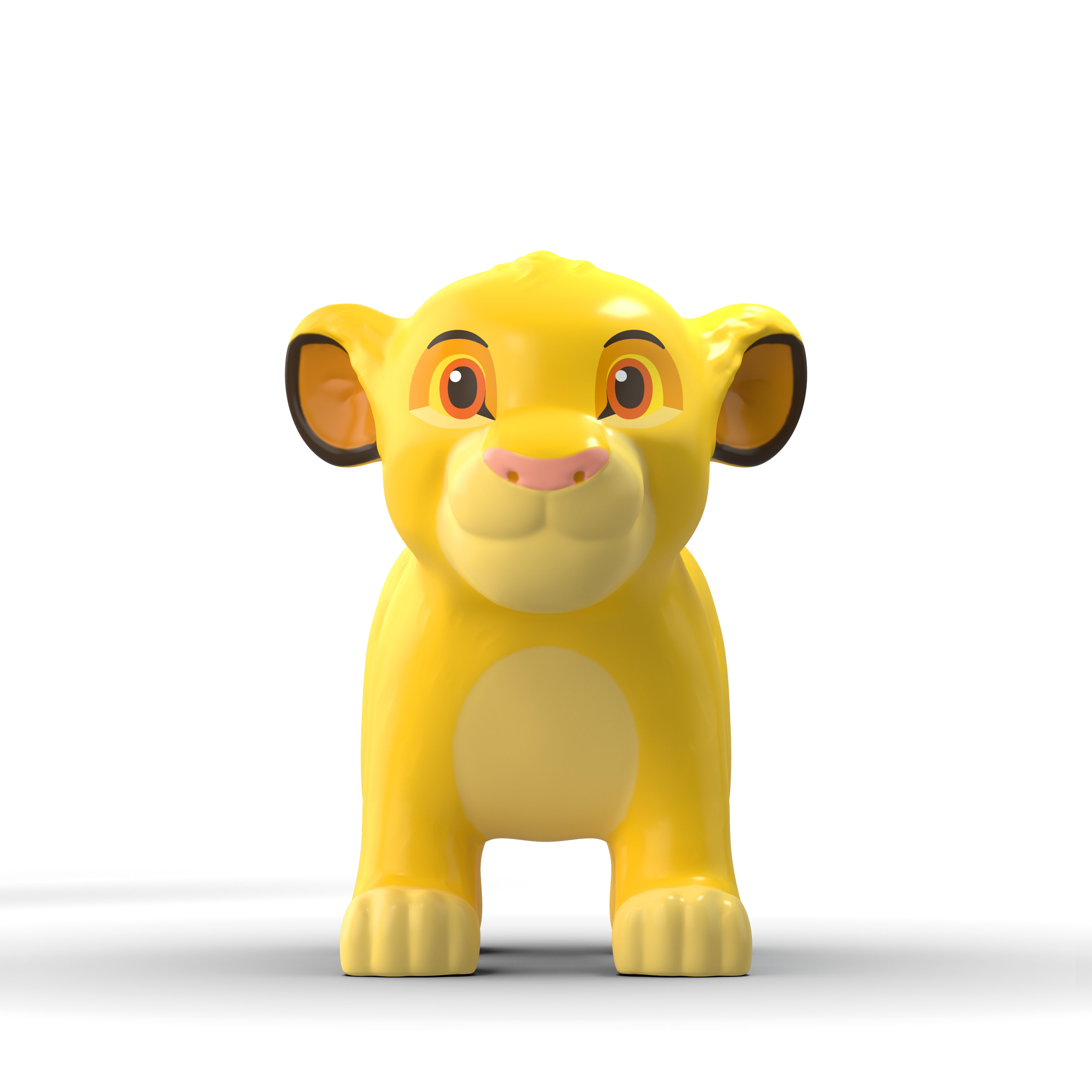 Disney's Simba character inflatable toy concept rendering