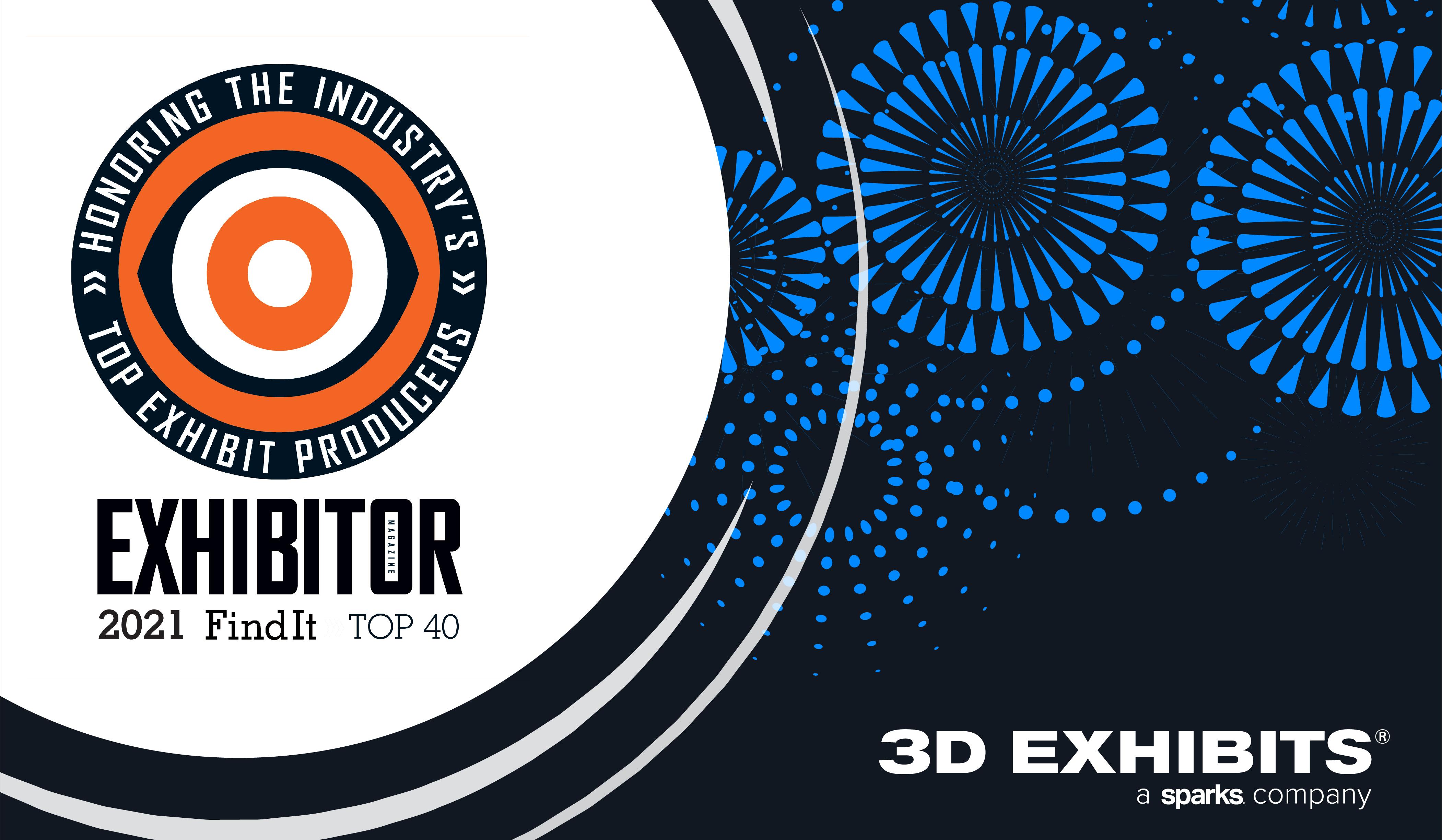 3D展品被列入展商的2021年Find It Top 40