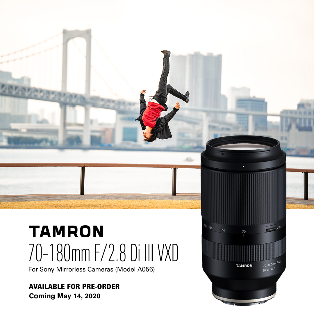 Tamron 70-180mm F2.8 DI III for Sony Announced