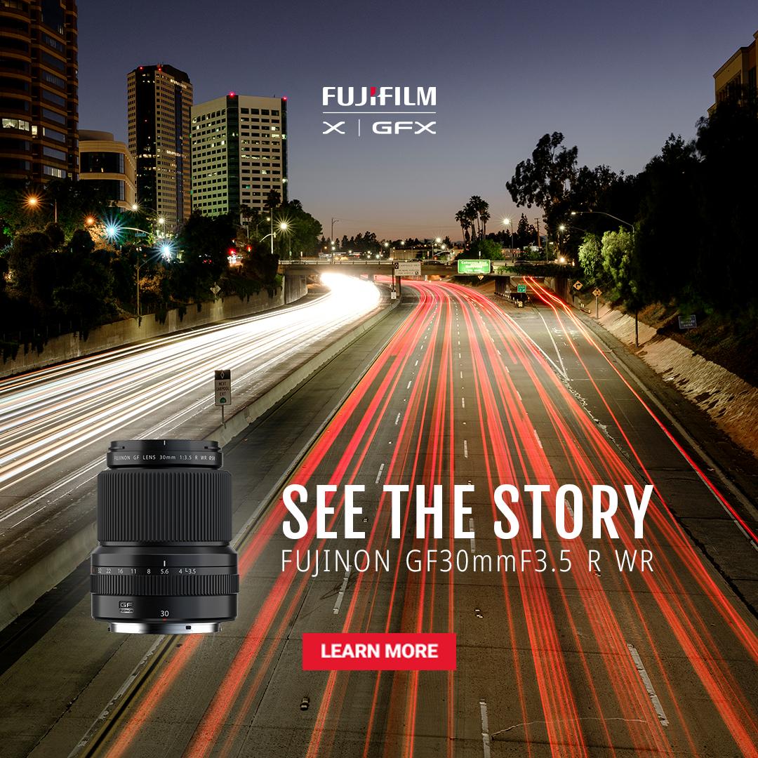 Fujifilm announces GF30mmF3.5 R WR