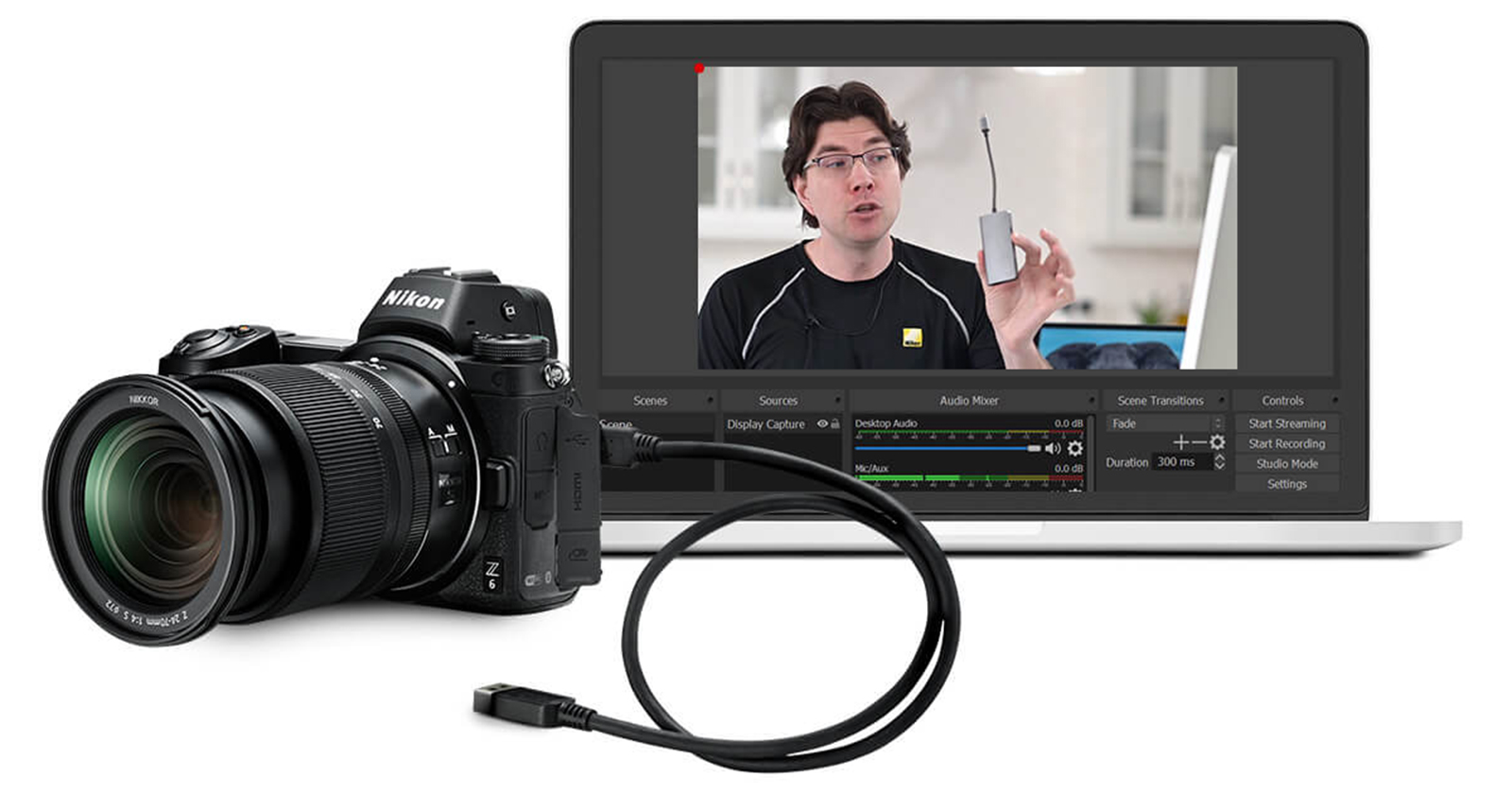 Use your camera as a Webcam w/ Zoom - No hardware required.