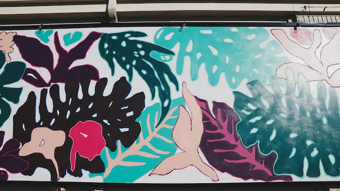 Impressionist Leaf Mural