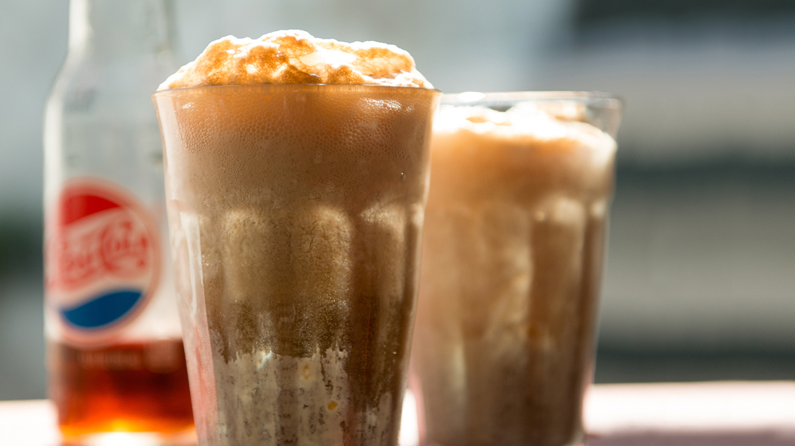 Vivian's Pepsi, Peanut, and Bourbon Float