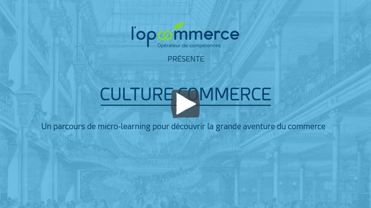 """Vidéo de présentation du parcours """"Culture Commerce"""" réalisé avec l'Opcommerce"""