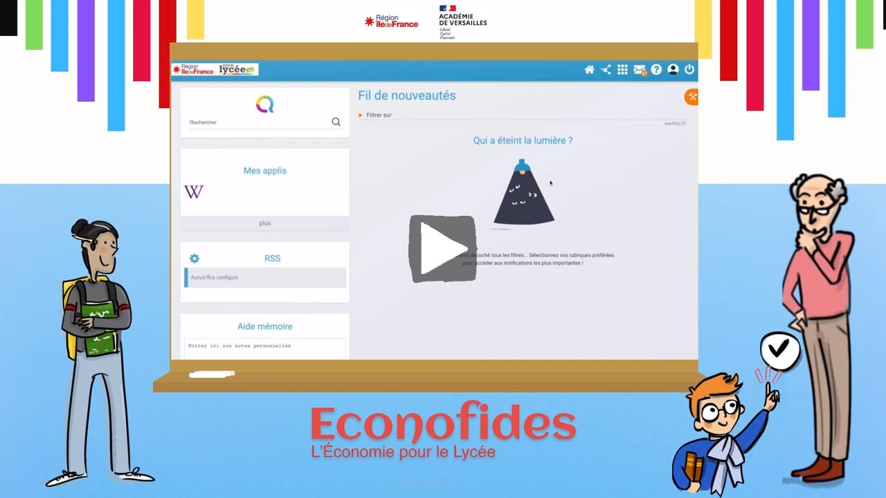 Vidéo de présentation de la plateforme Econofides