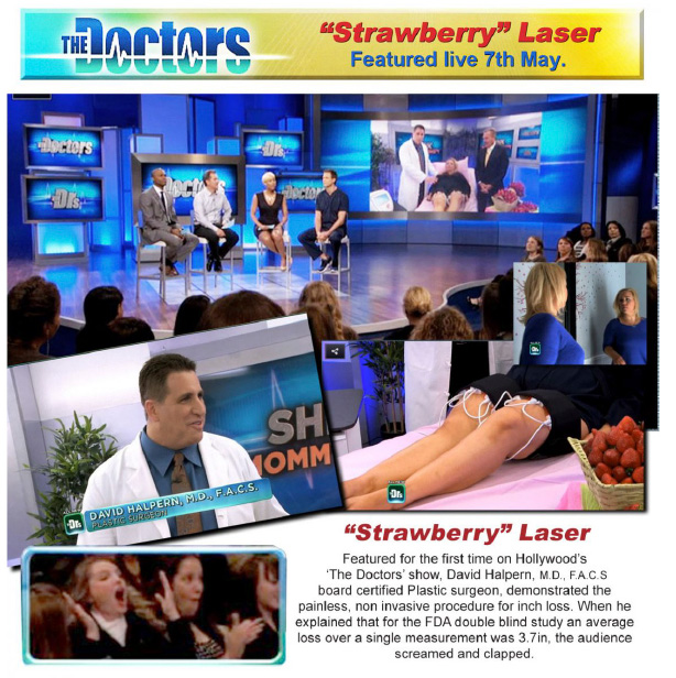 Strawberry Laser Lipo Machine live demonstration on The Doctors TV show