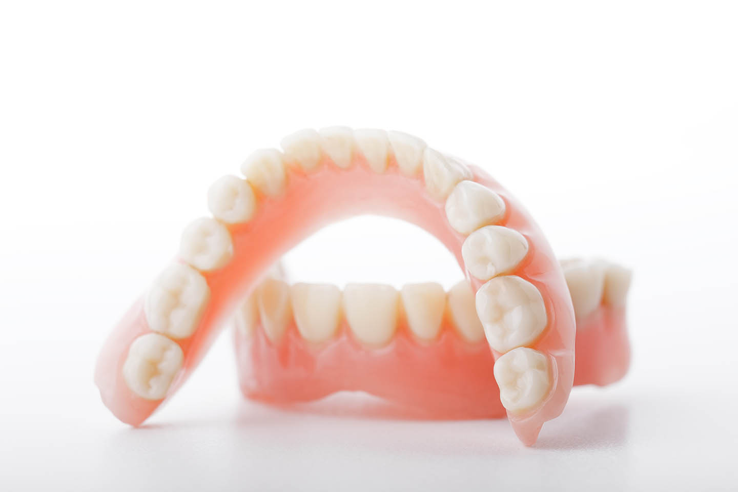 Close up of a pair of dentures