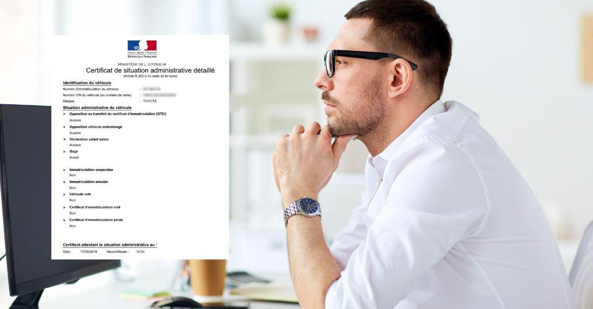demande de certificat de situation administrative détaillé