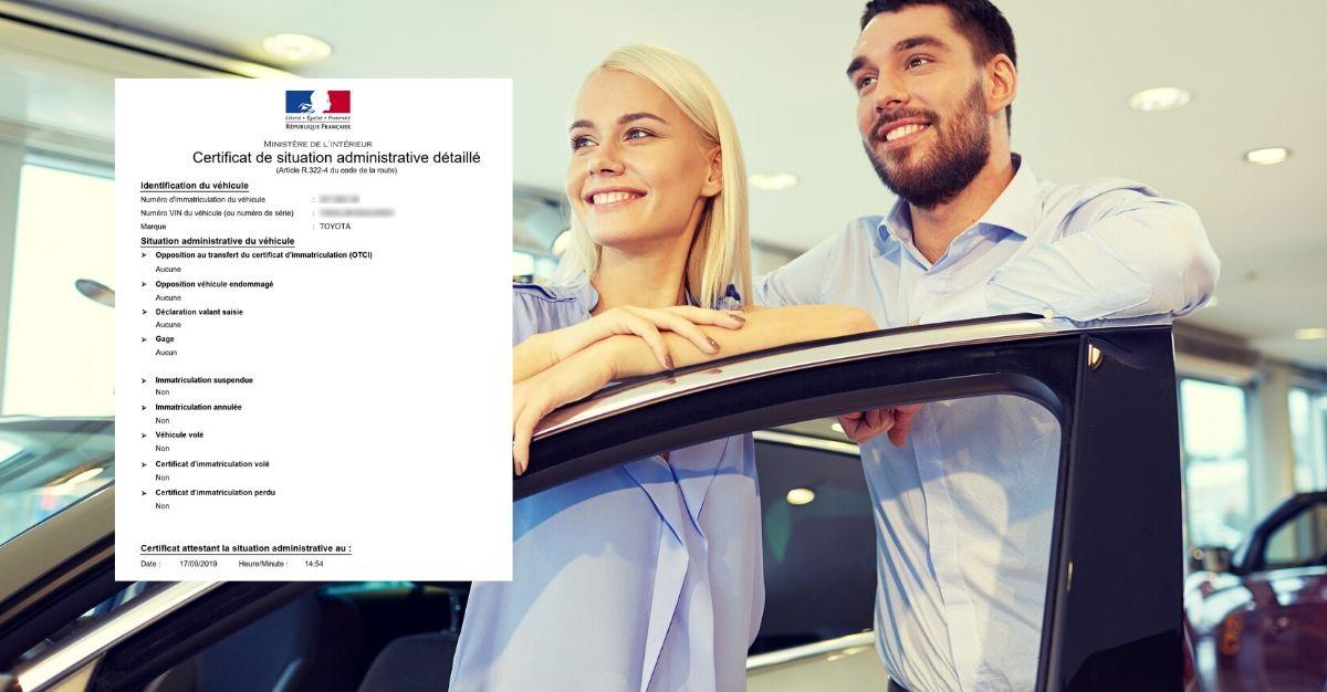 certificat de non gage achat vente véhicule