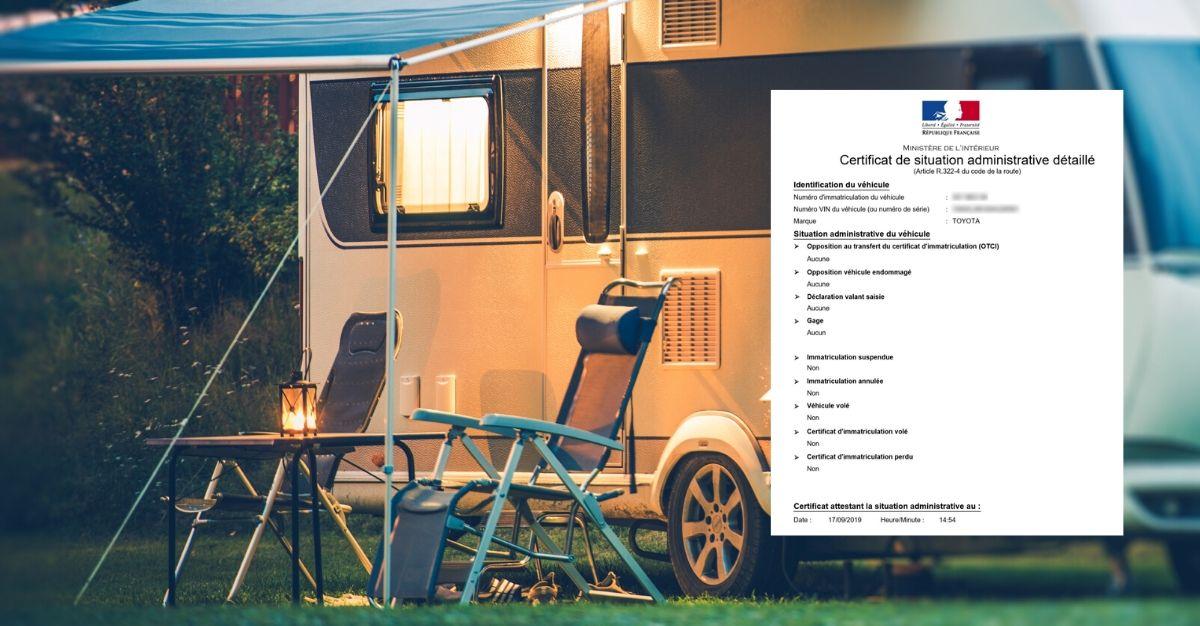 certificat de non gage caravane