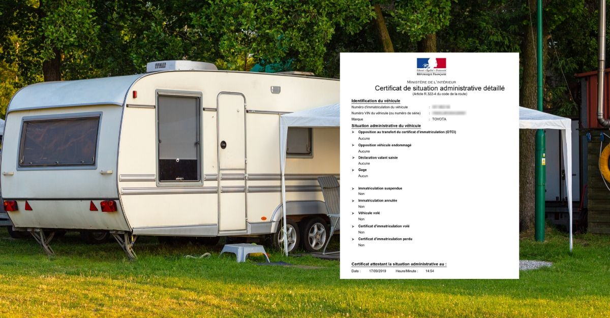 certificat de situation administrative détaillée caravane