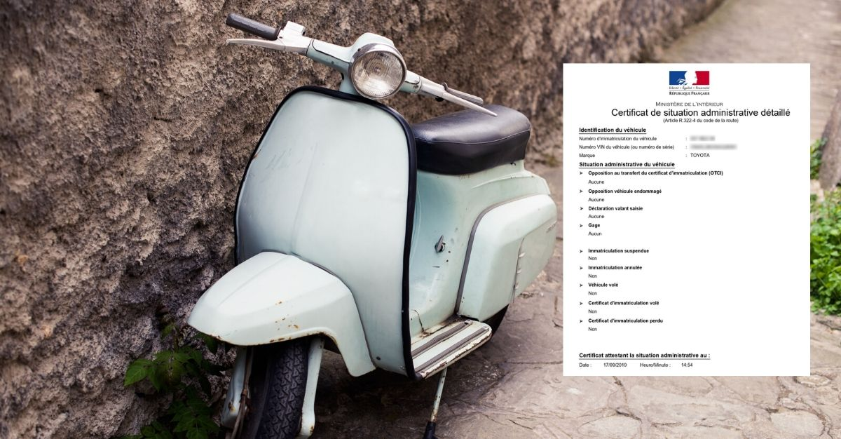 certificat de non gage scooter