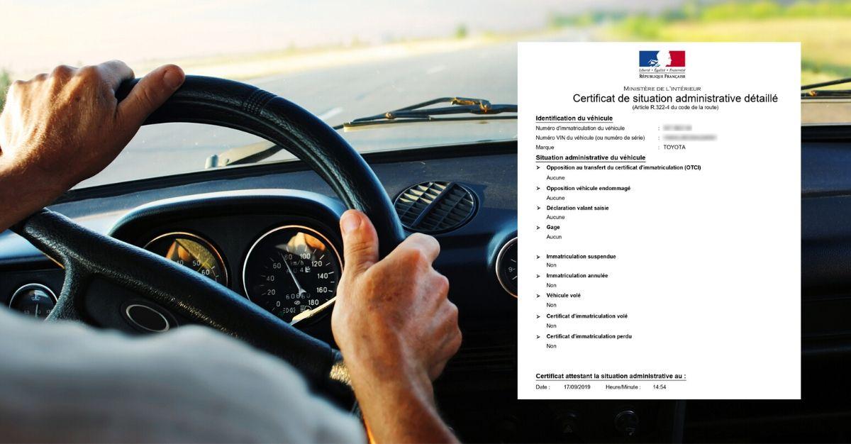 certificat de non gage voiture