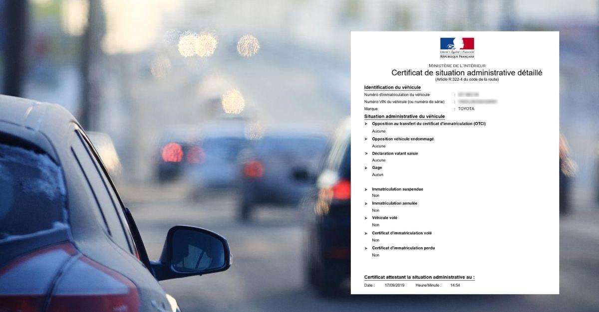 Certificat de non gage obligatoire ou pas