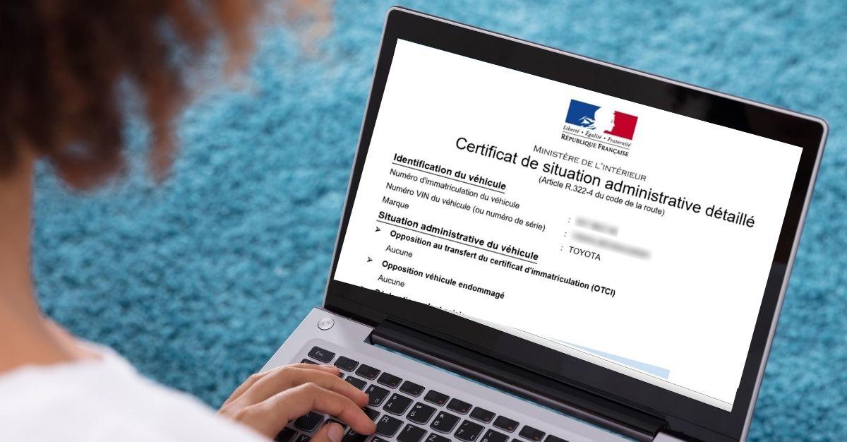 Certificat de non gage erreur / indisponible / introuvable / dossier inconnu
