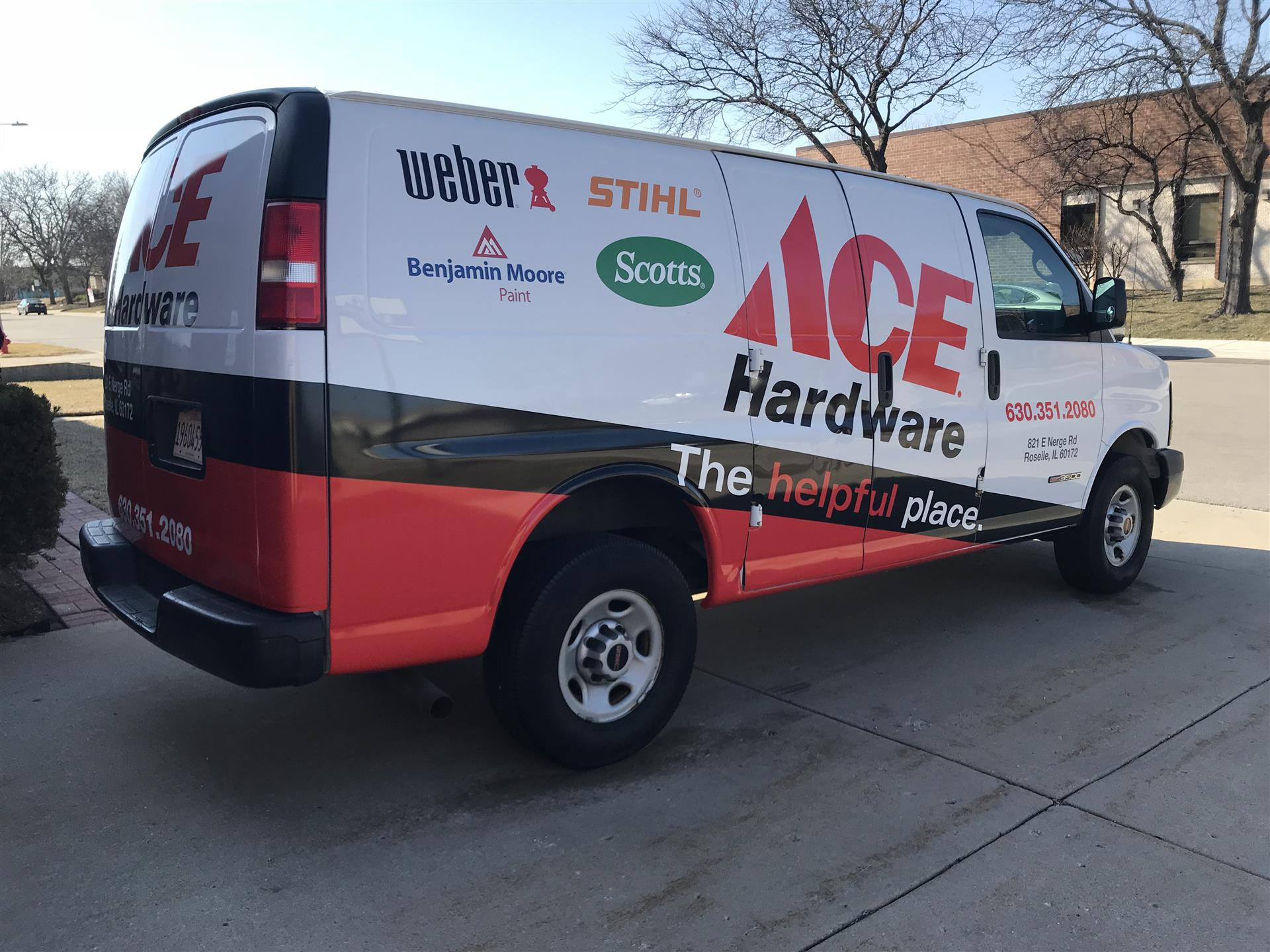 Ace Hardware Van Wrap