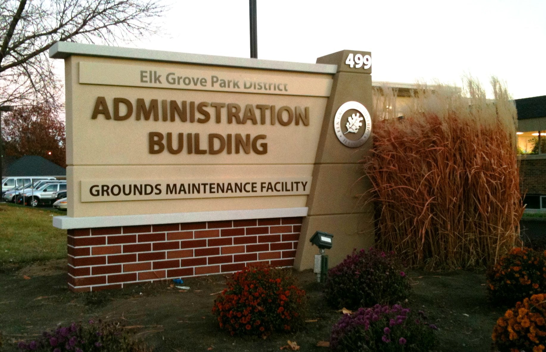 Elk Grove Park District Administration Building Sign