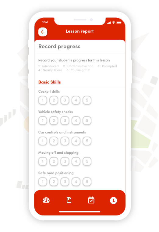 Mobile Progress Tracker example