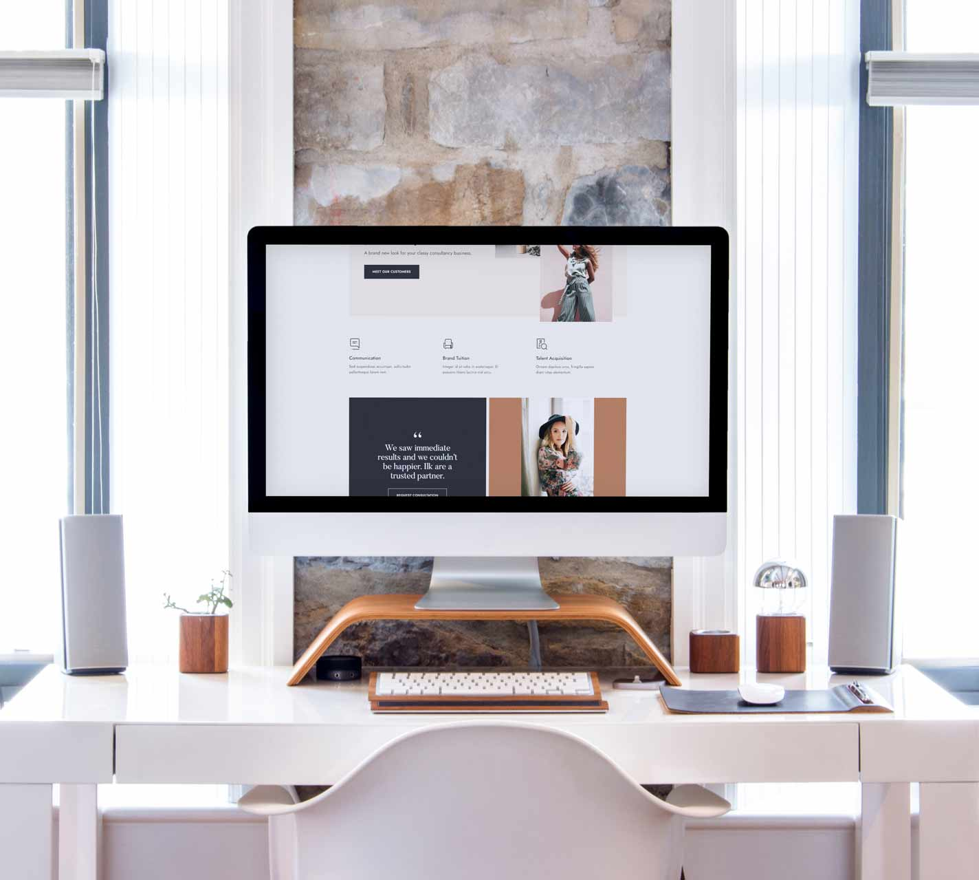 Desktop Computer Displaying an Online Store
