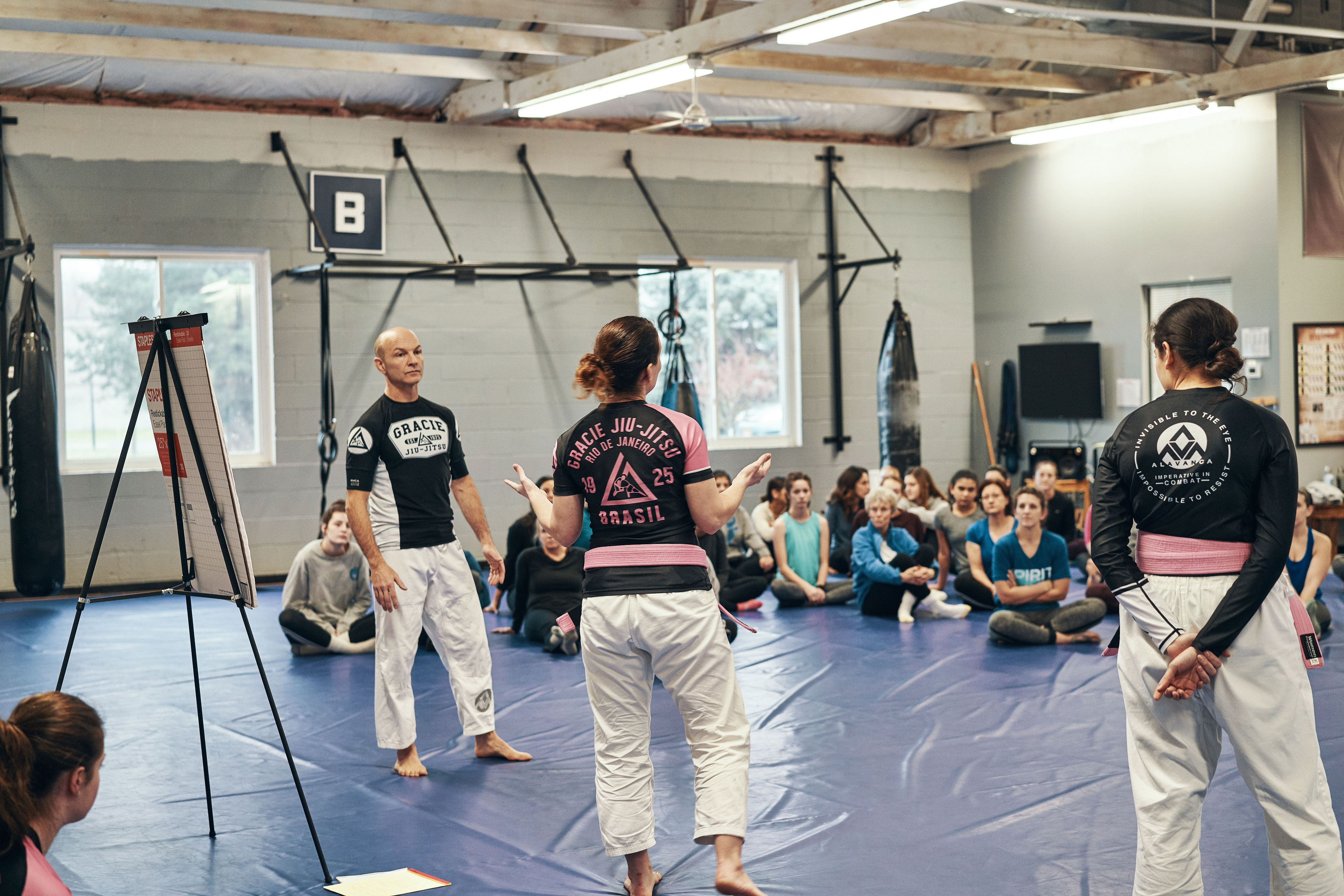 Instructors teaching womens self-defense classes near Rochester, NY