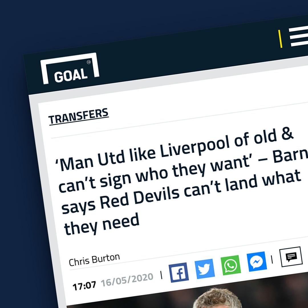 Goal newspaper article
