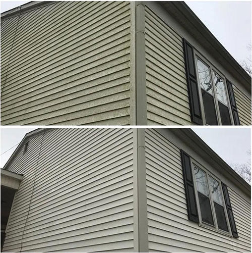 soft washing project in greenville