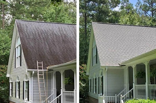 roof washing project greenville