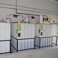 cubet tanks with wall mount pump