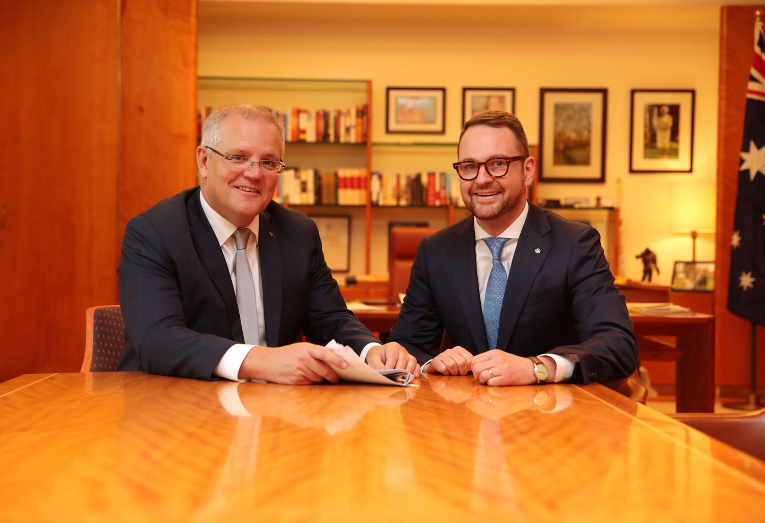 Scott Morrison and Andrew Bragg