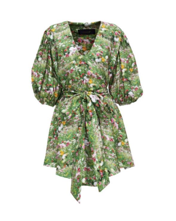 LACY GARDENS SMOCK DRESS