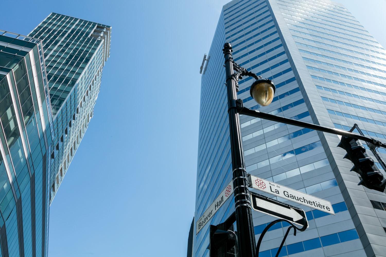 vue de l'édifice 600 de la Gauchetière dans le centre-ville de Montréal
