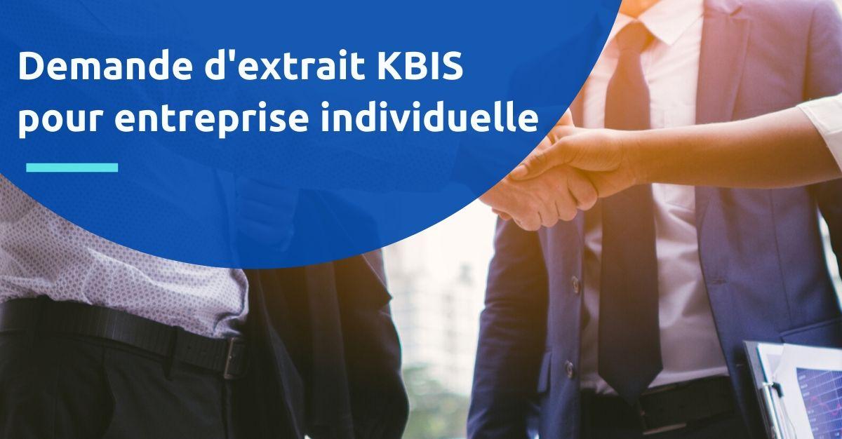 extrait kbis entreprise individuelle