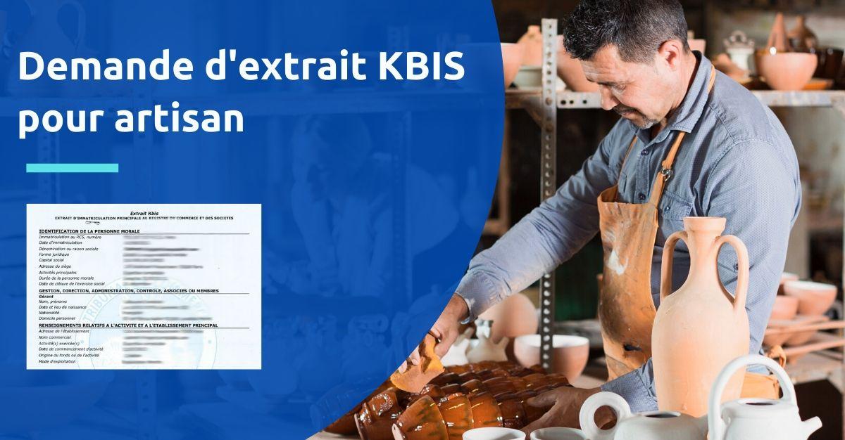 extrait kbis artisan