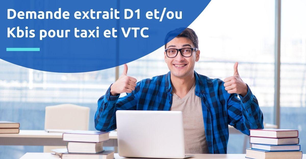 extrait kbis d1 taxi vtc