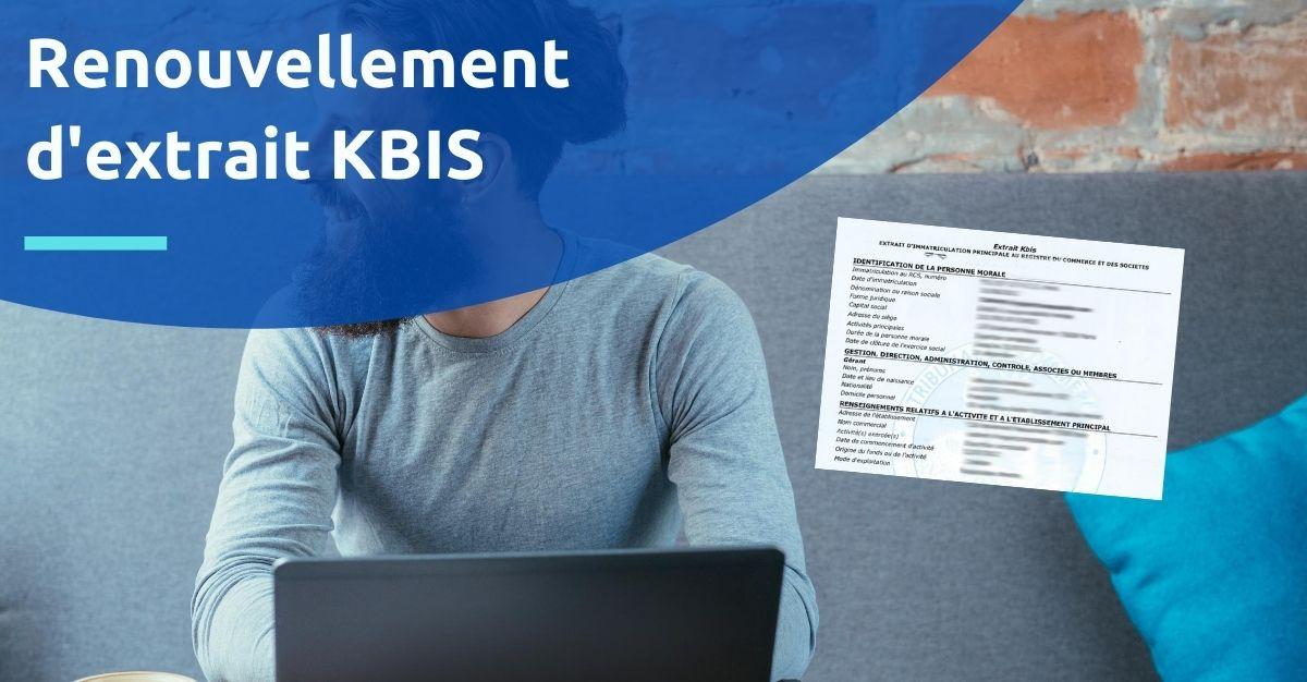 renouvellement extrait kbis