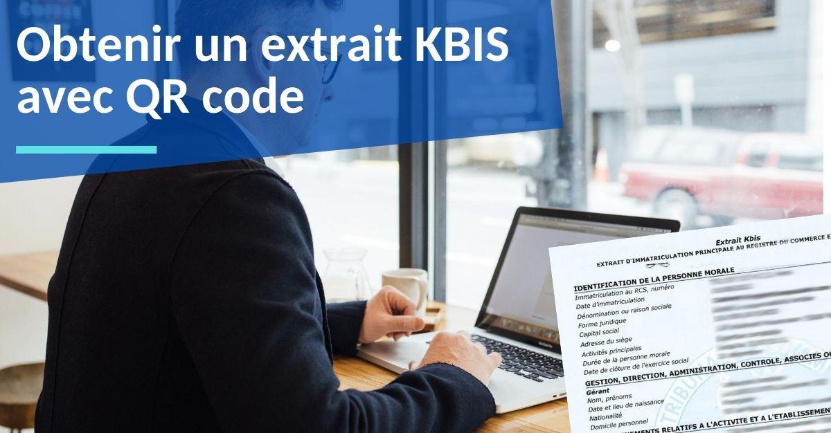 obtenir un extrait kbis avec qr code
