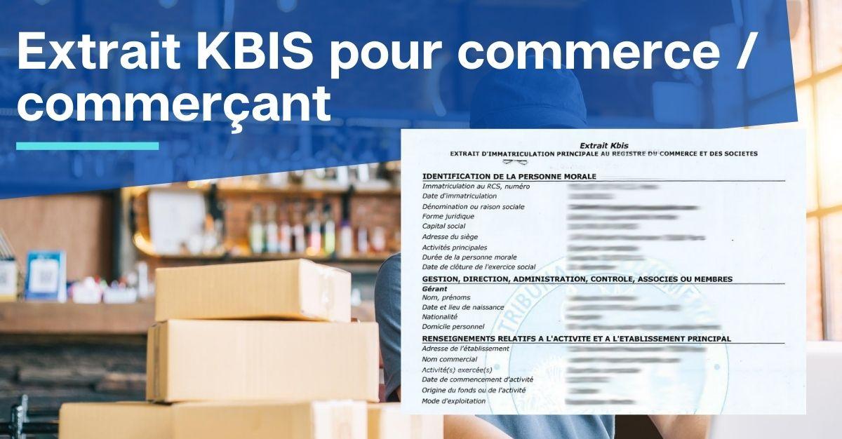 extrait kbis pour commerce commerçant
