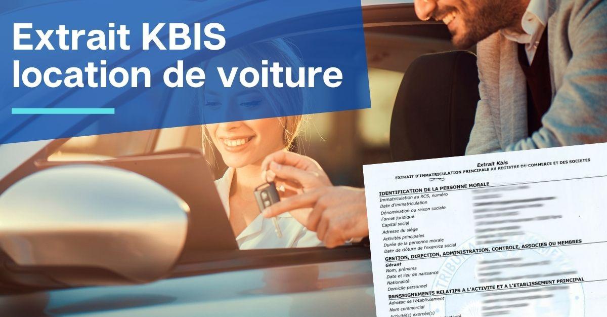 Extrait KBIS location de voiture