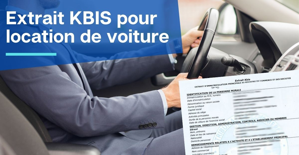 Extrait KBIS pour location de voiture