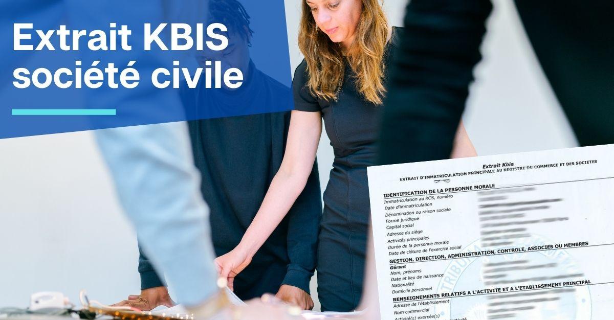 obtenir extrait KBIS société civile