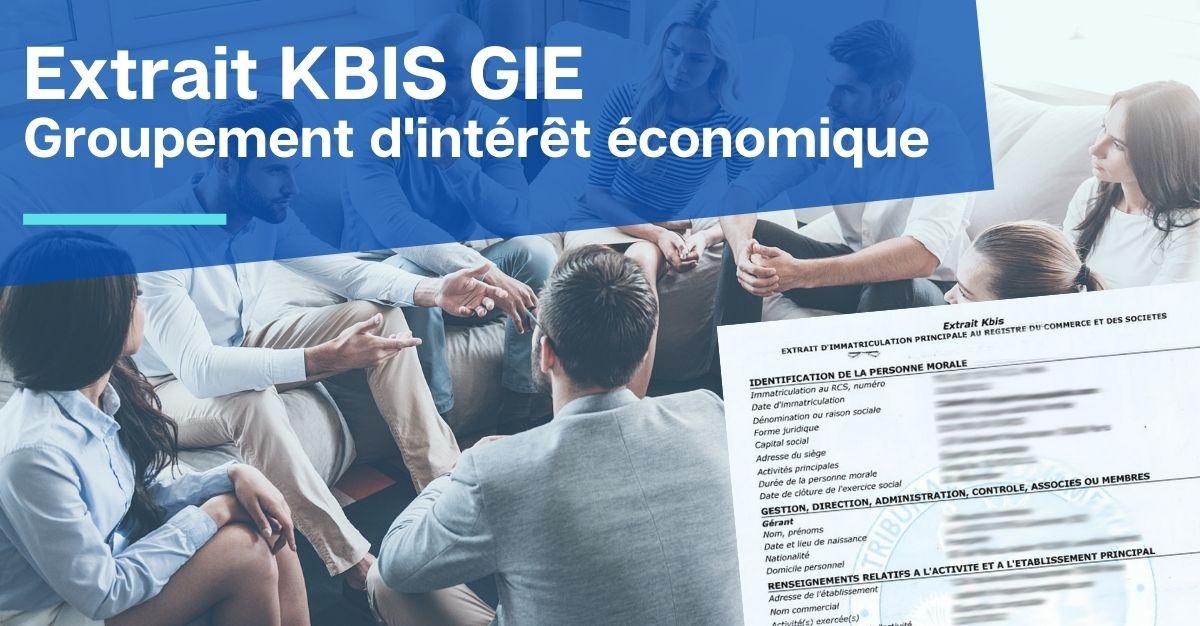 extrait KBIS GIE